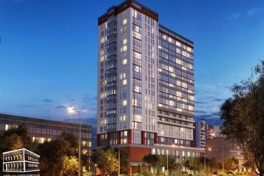2-комн квартира, 45.5 м2, 14 этаж