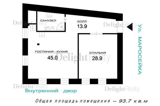 2-комн квартира, 96 м2, 2 этаж