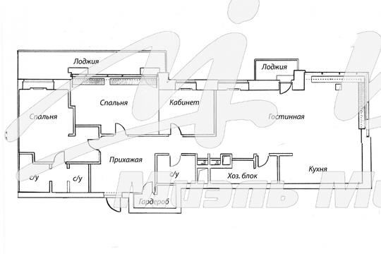 4-комн квартира, 139.2 м2, 2 этаж
