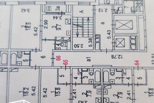 1-комн квартира, 31 м2, 12 этаж
