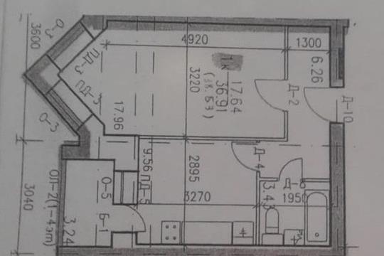 1-комн квартира, 38 м2, 5 этаж