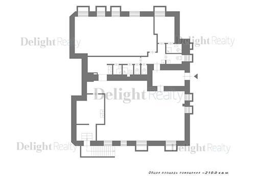 2-комн квартира, 210 м2, 1 этаж