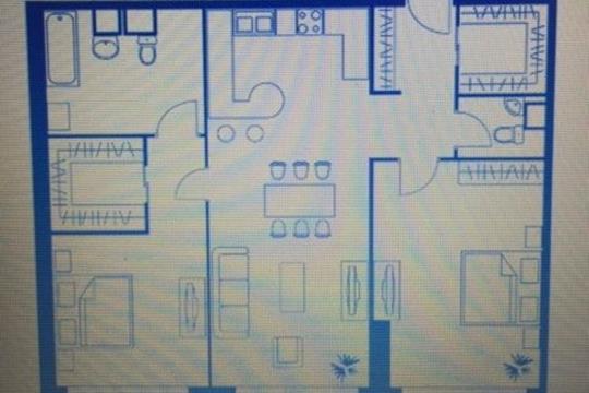 3-комн квартира, 97.6 м2, 31 этаж