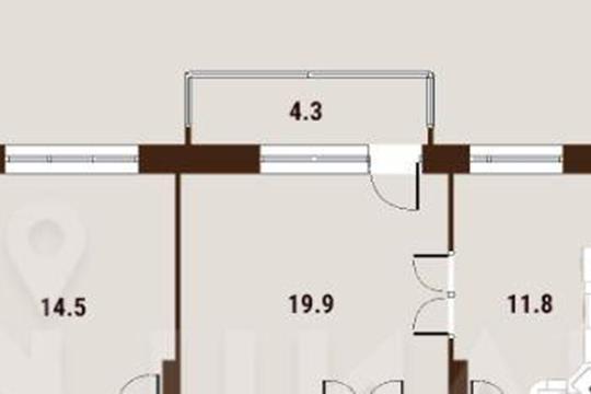 2-комн квартира, 67.1 м2, 18 этаж