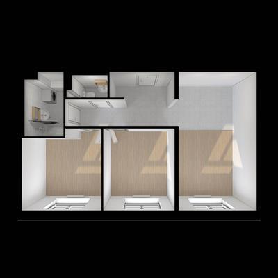 2-комн квартира, 59.1 м2, 20 этаж - фото 1