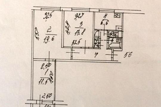 3-комн квартира, 64 м2, 2 этаж