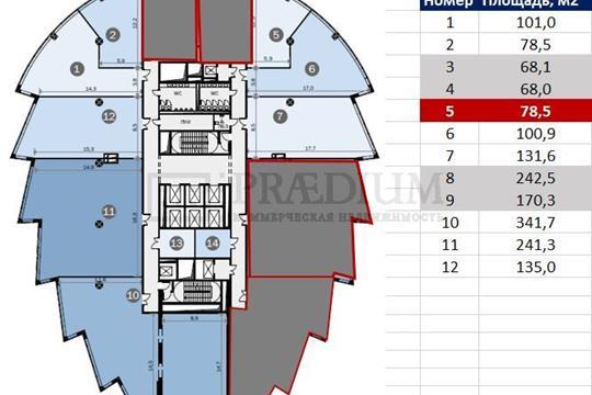 Офис, 135 м2, класс A