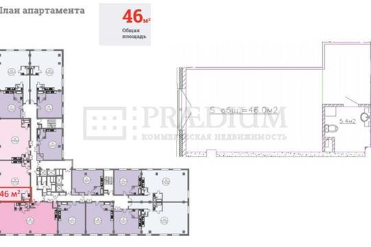 Офис, 46 м2, класс A