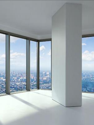 1-комн квартира, 54.3 м2, 75 этаж - фото 1