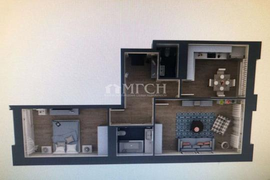 2-комн квартира, 56.5 м2, 8 этаж
