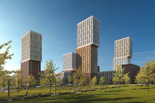 2-комн квартира, 66.4 м<sup>2</sup>, 21 этаж_1