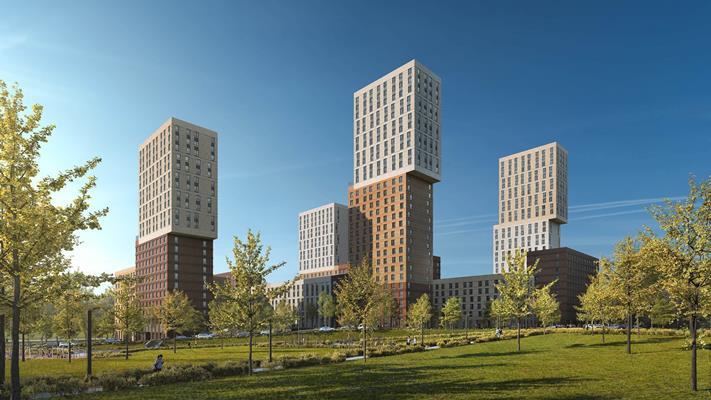 2-комн квартира, 62 м2, 24 этаж - фото 1