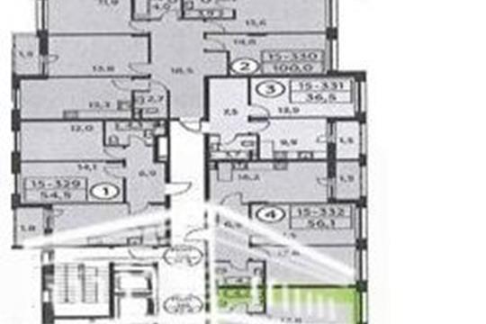 2-комн квартира, 56.1 м2, 3 этаж