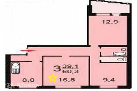 Комната в квартире, 60.3 м2, 7 этаж