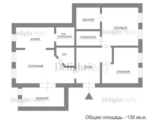 4-комн квартира, 130 м2, 5 этаж - фото 1