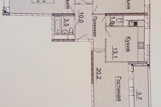 3-комн квартира, 90.5 м2, 11 этаж