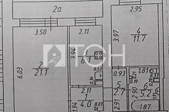 2-комн квартира, 56.2 м2, 5 этаж