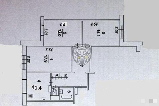 3-комн квартира, 73 м2, 1 этаж