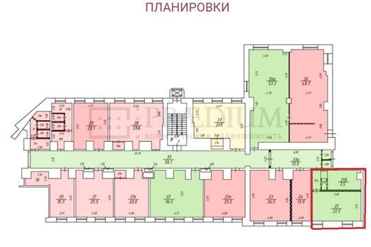 Офис, 35 м2, класс B