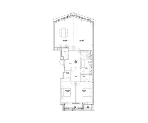 3-комн квартира, 120.4 м2, 3 этаж - фото 1