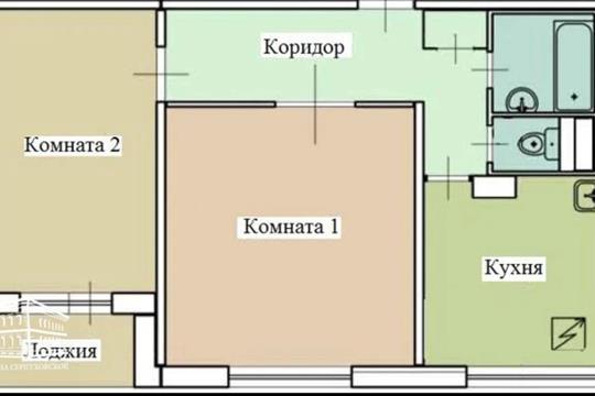 2-комн квартира, 53 м2, 12 этаж