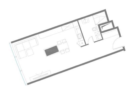 1-комн квартира, 53.9 м2, 75 этаж - фото 1
