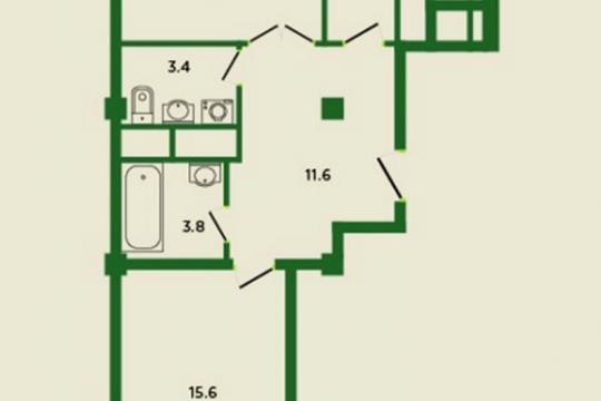 2-комн квартира, 68.8 м2, 10 этаж