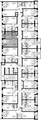 1-комн квартира, 35.8 м2, 22 этаж - фото 1