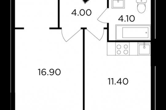 1-комн квартира, 36.3 м<sup>2</sup>, 18 этаж_1