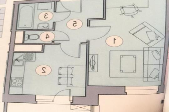 1-комн квартира, 30 м2, 7 этаж