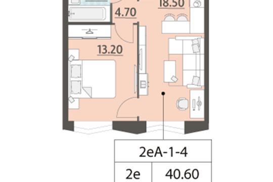 1-комн квартира, 40.6 м<sup>2</sup>, 4 этаж_1