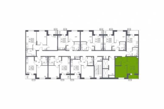 1-комн квартира, 39.41 м2, 2 этаж