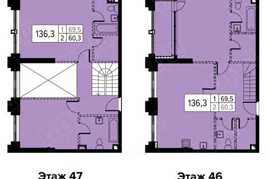4-комн квартира, 136 м<sup>2</sup>,  этаж_1