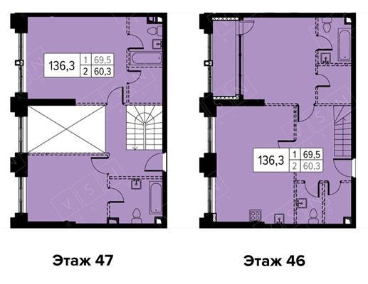4-комн квартира, 136 м2,  этаж - фото 1