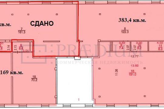 Офис, 384 м2, класс B