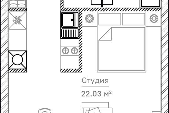 1-комн квартира, 36.16 м2, 7 этаж
