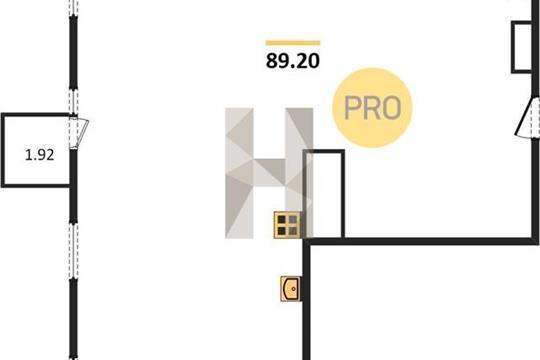 1-комн квартира, 89.2 м<sup>2</sup>, 7 этаж_1