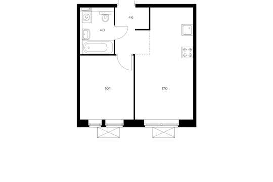 3-комн квартира, 76.1 м<sup>2</sup>, 6 этаж_1