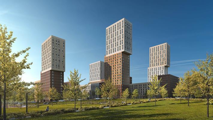 2-комн квартира, 62 м2, 32 этаж - фото 1