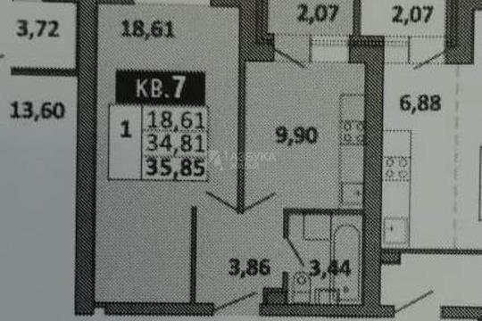 1-комн квартира, 36 м<sup>2</sup>, 1 этаж_1