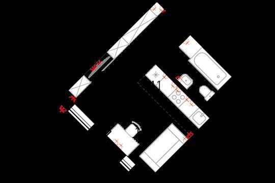 Студия, 25.7 м2, 15 этаж