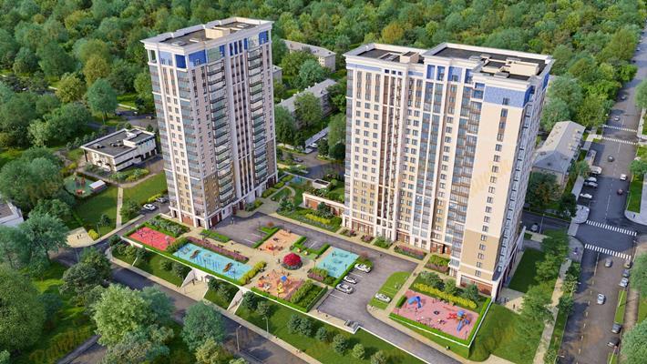 3-комн квартира, 92.19 м2, 17 этаж - фото 1