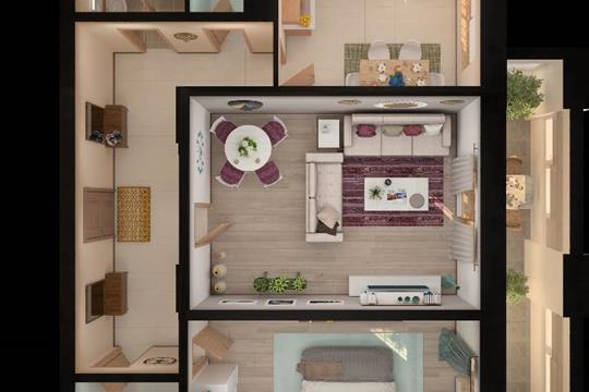 2-комн квартира, 62.34 м2, 15 этаж