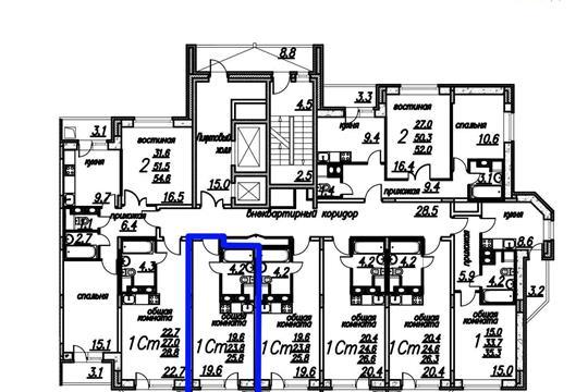 Студия, 25.8 м2, 8 этаж