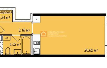 1-комн квартира, 29.06 м2, 4 этаж