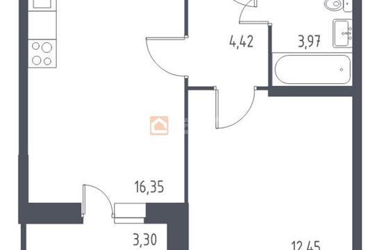 1-комн квартира, 38.84 м2, 8 этаж