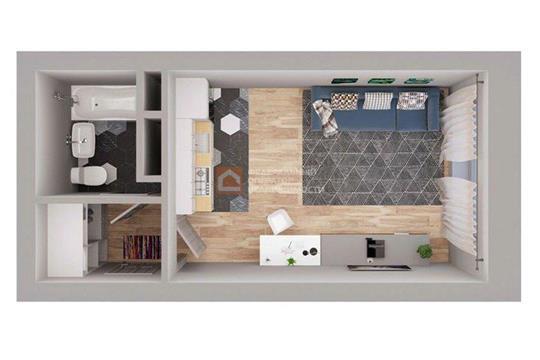 1-комн квартира, 24.9 м<sup>2</sup>, 9 этаж_1