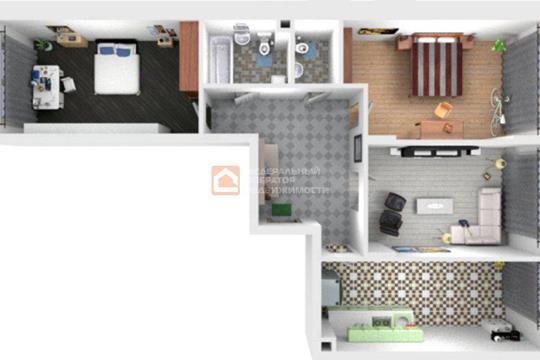 3-комн квартира, 77.3 м2, 13 этаж