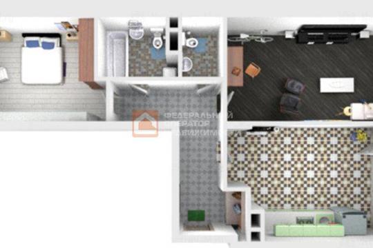 2-комн квартира, 71 м2, 4 этаж