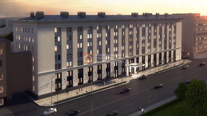1-комн квартира, 45.7 м2, 4 этаж - фото 1